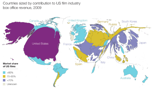 China And The Changing World Map Of The Film Business - Us china map